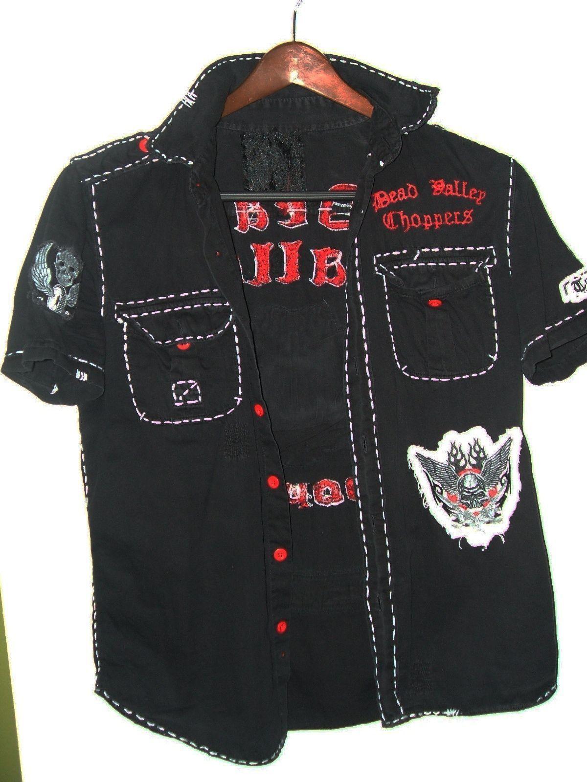 Dead Valley Choppers mens casual designer shirt size MEDIUM - $75.00