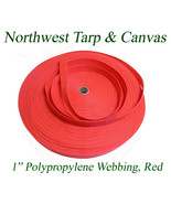 """Polypro Webbing, 1"""" Red 100 Yard Roll - Shipped from The USA! - $36.27"""