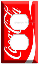 RED CLASSIC COCA-COLA VERTICAL LINE ELECTRIC POWER 2 HO OUTLETS COVER WA... - $9.99
