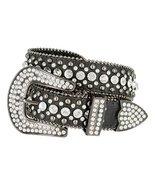 "50158 Women's Western Cowgirl Rhinestone Studded Leather Belt 1-1/2"" Wid... - $32.95"