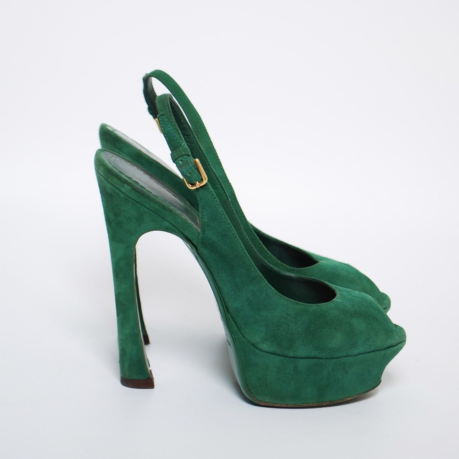 695f31cdb85 Yves Saint Laurent Green Suede High Heels and similar items. 57