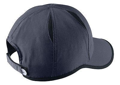 e7072f07 New Nike Feather Light Cap Hat Dri Fit Run Tennis 595510-451 Obsidian Blue (