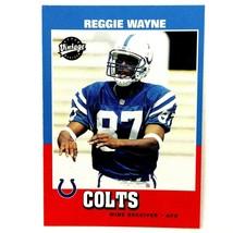 Reggie Wayne 2001 Upper Deck Vintage Rookie Card #230 NFL Indianapolis C... - $2.92