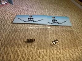 2 pkg drawer 4 pulls Door handles for Miniature Dollhouse 1:12 building lot - $15.83