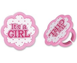 DECOPAC It's A Girl Cupcake Rings (12 Count) - $3.94