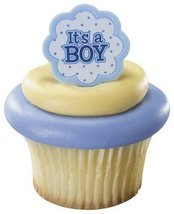 It's a Boy Blue Baby Shower Cupcake Rings (24-Pack) - $11.86