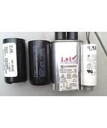 5NN99 SET OF 4 ASSORTED CAPACITORS: 250V/10/9.90MF, 2100V/0.95/1.01MF, E... - $21.55