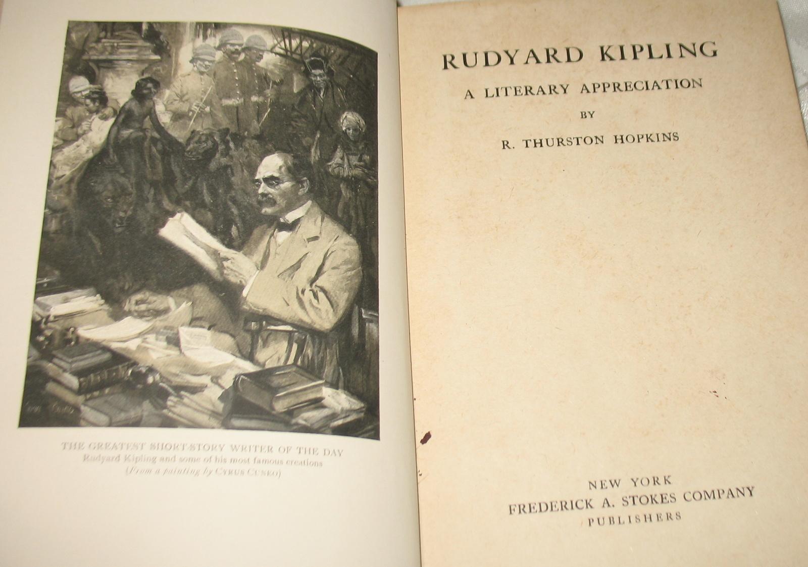 Rudyard Kipling JUNGLE BOOK + A Literary Appreciation by Hopkins + more