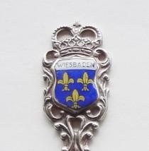 Collector Souvenir Fork Germany Wiesbaden Coat of Arms Flag Porcelain Emblem - $14.99