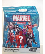 New Mega Bloks Marvel Series 1 Package Includes 1 Figure And 1 Block Uno... - $5.00