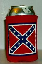 2   NEW REBEL FLAG CAN COOZIE KOOZIE  THIS LISTING IS FOR 2 COOZIES - $9.99