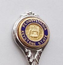 Collector Souvenir Spoon USA Pennsylvania Keystone State Liberty Bell Emblem - $2.99