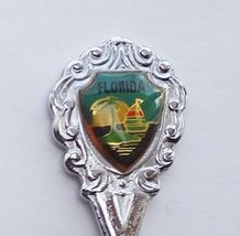 Collector Souvenir Spoon USA Florida Sailboat Palm Tree Island Sunset Emblem - $2.99