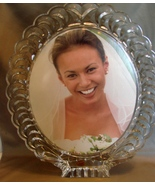 Beautiful Crystal D'Arques Crystal Oval Picture Frame Holder France 13.5... - $59.99