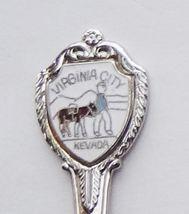 Collector Souvenir Spoon USA Nevada Virginia City Prospector Donkey Cloisonne - $2.99