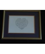 Love Is Not Just a Feeling- Calligraphy Art By Anita Robertson - $44.99