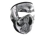 Zan Headgear WNFMO002, Full Mask, Neoprene, Oversized, Black & White Skull Face
