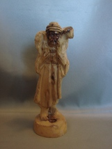 Olive Wood Carving Good Shepherd Carries  Wayward Lamb from Holy Land. - $12.99