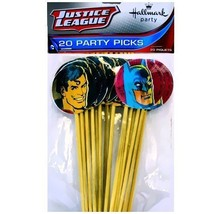 (20) Justice League Cupcake Party Picks Birthday Party Supplies Superman... - $14.80