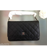CHANEL Caviar Wallet On Chain - New - $3,460.05