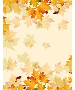 Vector Autumn Floral Background-Digital clipart - $4.00