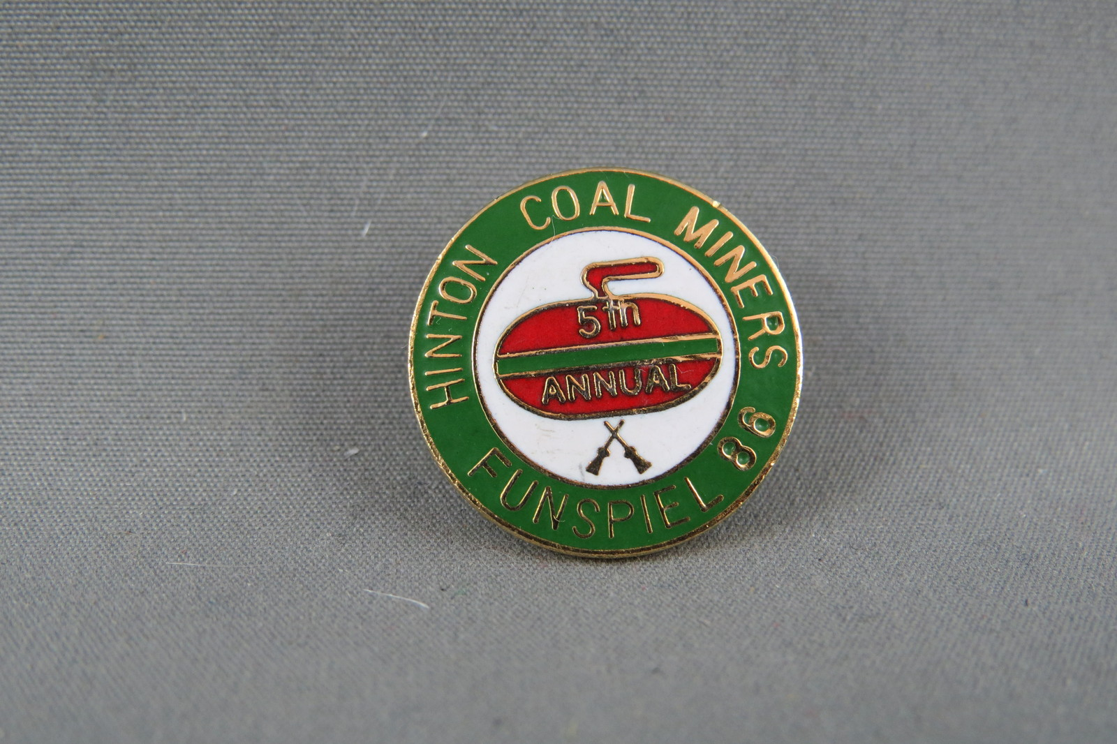 Primary image for Rare Curling Pin - Hinton Coal Miner's Funspeil 1986 - 5th Annual