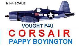 1/144 scale Resin Model Kit Vought F4U Corsair Pappy Boyington - $12.00