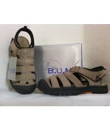 B.U.M. EQUIPMENT Suede Athletic Closed Toe Sandals Big Boys 6 M Natural - $38.00