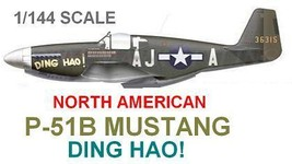 "1/144 scale Resin Model Kit North American P-51B Mustang ""Ding Hao"" - $12.00"
