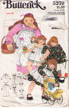 Vtg DRESS-PINAFORE-BLOOMERS Pattern 5279-b Child Size 4 - $12.59