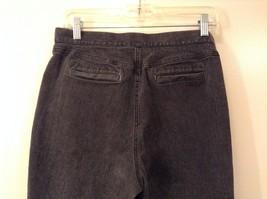 Liz Claiborne Dark Gray Jeans Capri Pants, size 12 Petite image 5
