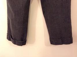 Liz Claiborne Dark Gray Jeans Capri Pants, size 12 Petite image 6