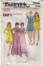 Vtg Butterick ROBE & GOWN Pattern 6589 Size 12 - Complete - $12.59