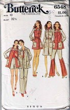 Vtg Butterick Pattern 6548-b DRESS, TOP, PANTS & SHORTS Size 10 - Complete - $10.99