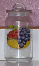 """8"""" Glass Jar Canister with Vintage FRUIT DECAL - $12.59"""