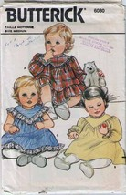 Vtg Butterick Pattern 6030-b - INFANTS DRESS - Size 18-22 lbs - Complete - $10.99