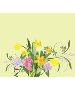 Abstract Illustration on with Daffodilhyacinth and Tulip-Digital clipart - $4.00