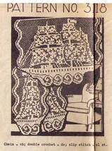 Vtg SAIL SHIP SCHOONER Pattern Filet Crochet Chair Set - Design 3118 - $9.99