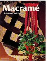 MACRAME TECHNIQUES & PROJECTS 1975 SC - Sunset Book First Printing - $12.59