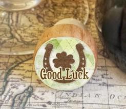 Wine Stopper, Good Luck Handmade Wood Bottle Stopper, St. Patrick's, Sha... - $8.86