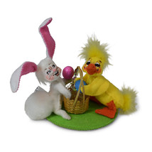 Annalee Dolls 2019 Spring Bunny and Duck Couple 3in Plush New with Tags - $21.37