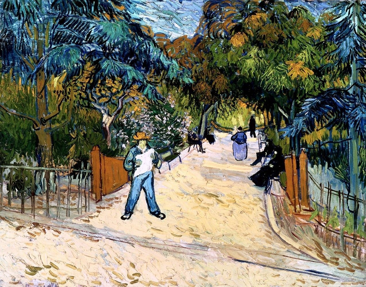 Entrance to the Public Gardens Painting by Vincent Van Gogh Art Reproduction