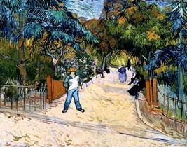Entrance to the Public Gardens Painting by Vincent Van Gogh Art Reproduc... - $32.99+