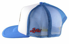 LRG Lifted House of Research Joint Smoking Cock Blue White Baseball Snapback Hat image 5