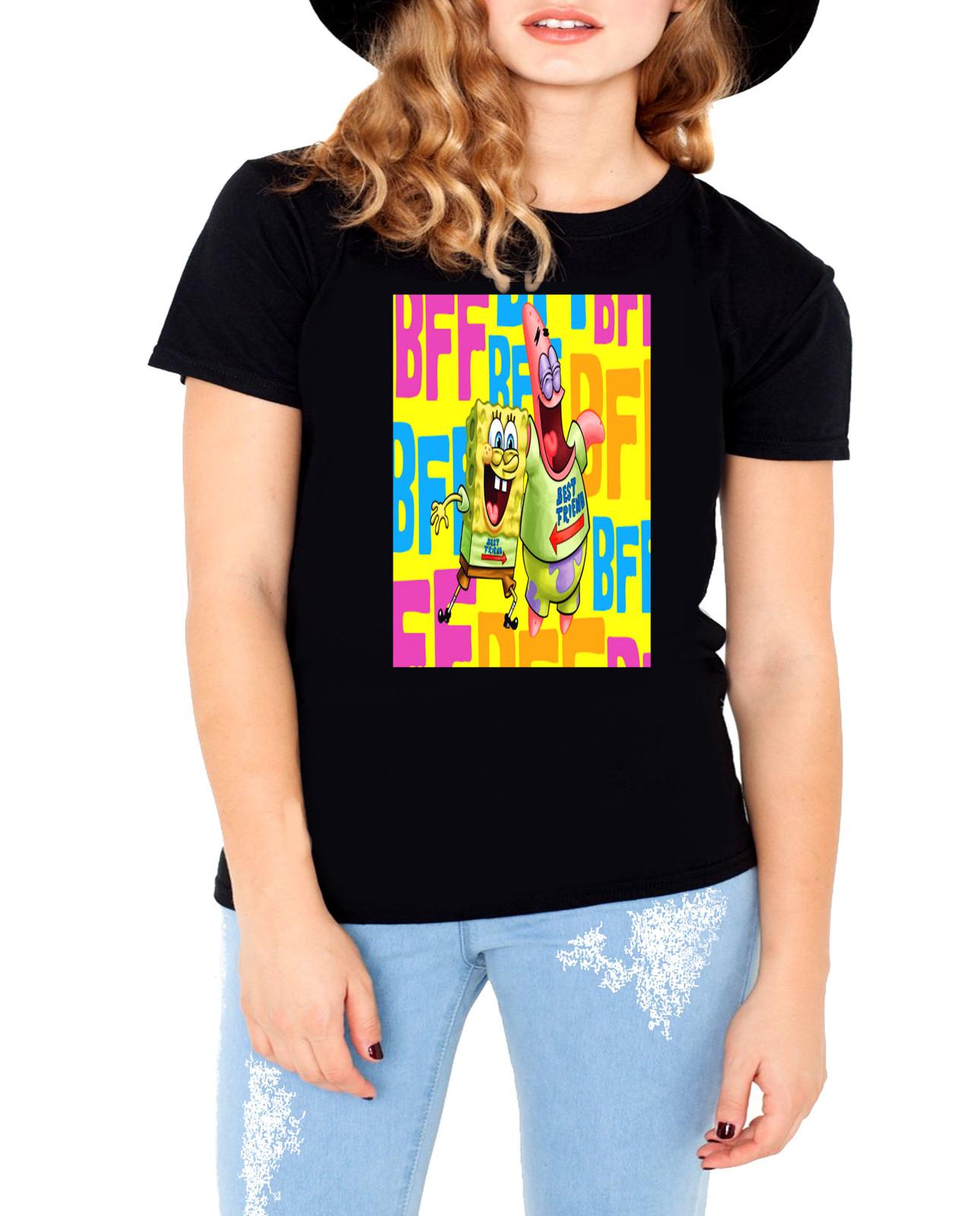 Sponge bob black t shirt3