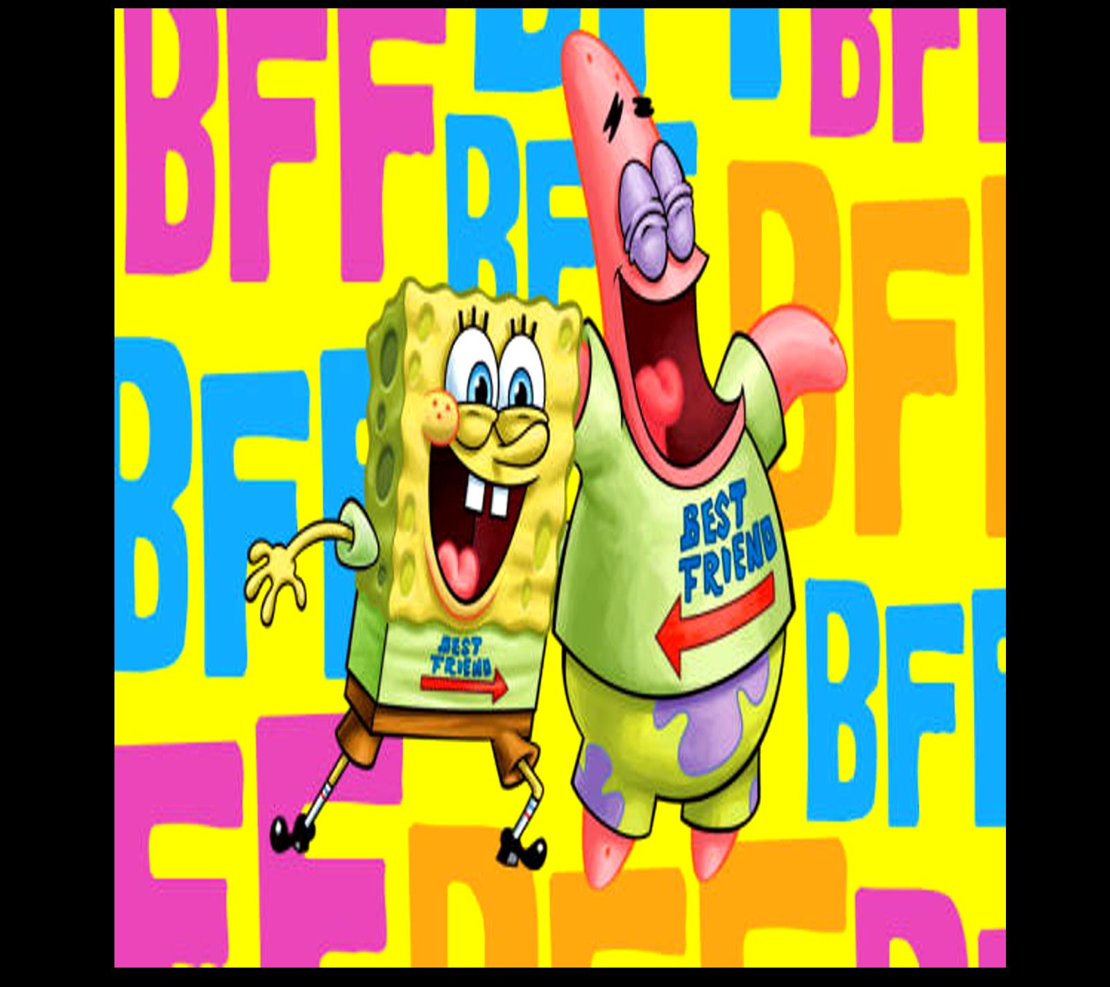 """Sponge Bob Square Pants & Patrick Best Friends """"BFF"""" Ladies T-Shirt"""