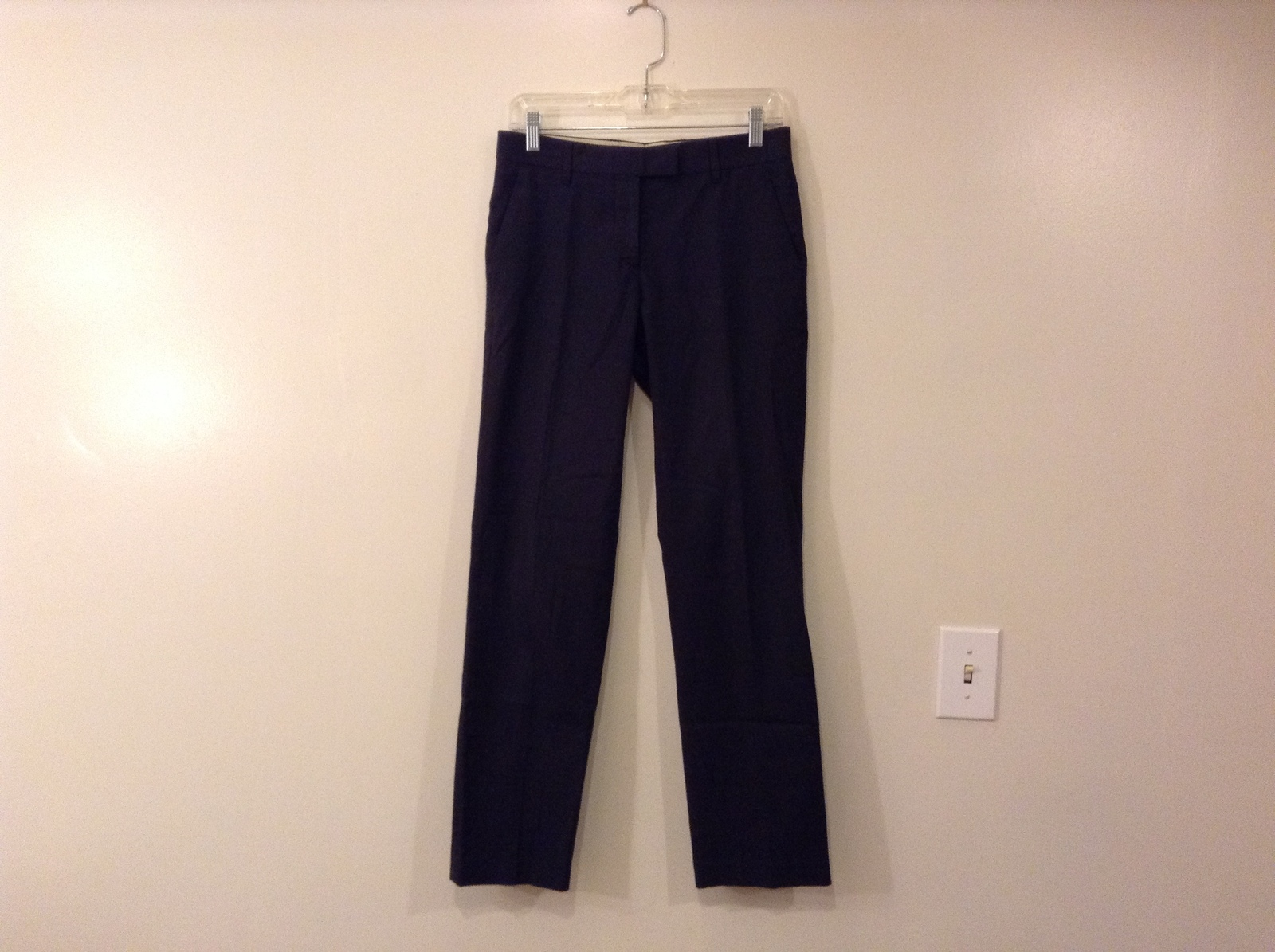 Helmut Lang Cotton Navy Blue-Black Dress Pants made in Italy, size EUR 40