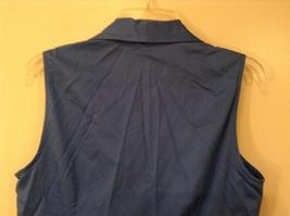 Ann Taylor LOFT Blue Sleeveless V-neck Cotton Blouse Top, size 12, shape fit image 5