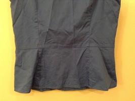 Ann Taylor LOFT Blue Sleeveless V-neck Cotton Blouse Top, size 12, shape fit image 6