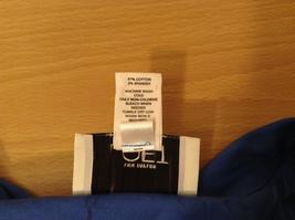 Ann Taylor LOFT Blue Sleeveless V-neck Cotton Blouse Top, size 12, shape fit image 8